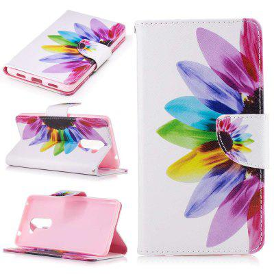 Colorful Flowers Painted PU Phone Case for HUAWEI Honor 6X