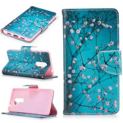 Plum Blossom Painted PU Phone Case for HUAWEI Honor 6X