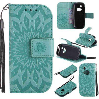 Embossed Sun Flower PU TPU Phone Case for Nokia 3310