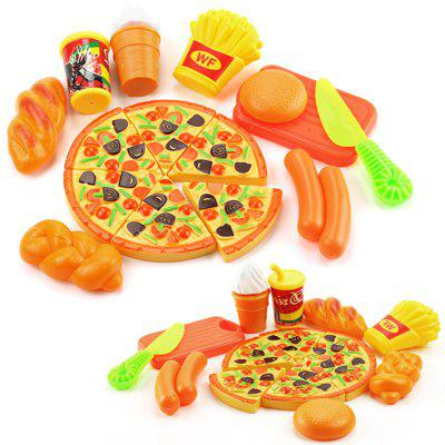 Gearbest 15PCS Plastic Food Pizza Kitchen Pretend Play Toy for Kids $1.99 with Coupon 'AFFMPP10' promotion
