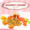 15PCS Plastic Food Pizza Kitchen Pretend Play Toy for Kids - COLORMIX