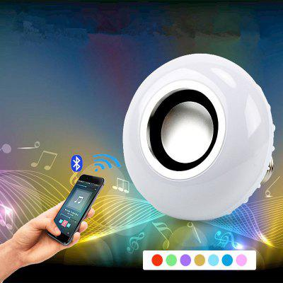 GodRays G091312-L01 E27 12W Smart  Bluetooth Music Bulb White and RGB Light Speaker with 24 Keys Remote Controller