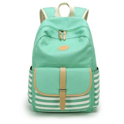 Korean Style Fashion Canvas Backpack Casual Travel Bag