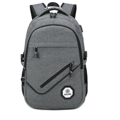 Fashion Design Backpack with USB Charging Cable Travel Bag for Men