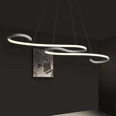 Modern  Line Shape Acrylic LED Pendant Lamp for Dining Living Room Kitchen Bedroom