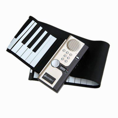 Iword S2027 Hand Roll Piano Flexible Roll Up 61 Keys Keyboard Portable Silicone Piano