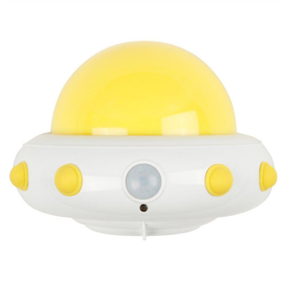 UFO Plug in Electric Remote LED Pequena Noite Light Yellow Light
