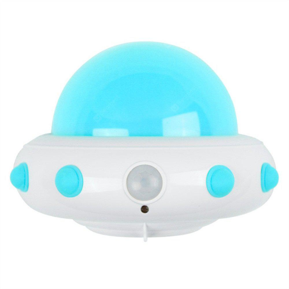 UFO Plug in Electric Remote LED Small Night Light Blue Light