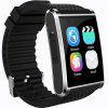 X11 MTK6580 For Android 3G GPS Bluetooth 4.0  Heart Rate Monitor Fitness 2 Million Hd Camera 512M 4G Smartwatch - NATURAL BLACK