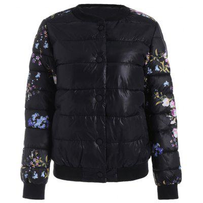 Women's Quilted Coat Floral Embroidery Slim Jackets