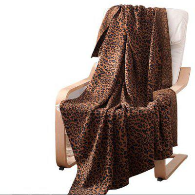Pure Cotton Leopard Knitted Wool Blanket