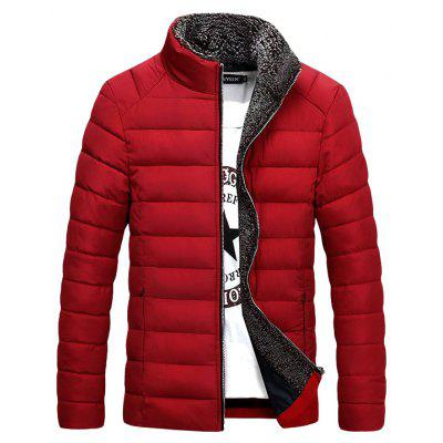 Men'S Casual Collar Thick Cotton Jacket