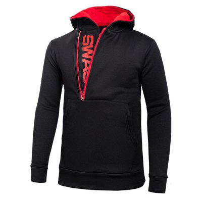 Men of Letters Side Zipper Head Hit Color SweatshirtMens Hoodies &amp; Sweatshirts<br>Men of Letters Side Zipper Head Hit Color Sweatshirt<br><br>Material: Cotton Blends<br>Package Contents: 1xSweatshirt<br>Shirt Length: Regular<br>Sleeve Length: Full<br>Style: Casual<br>Weight: 0.2100kg