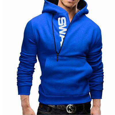 Men of Letters Side Zipper Head Hit Color Sweatshirt
