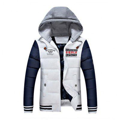 Buy WHITE 2XL Men'S Thick Hooded Cotton Clothes for $63.04 in GearBest store
