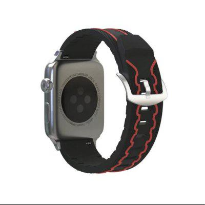 Buy Soft Silicone Sport Strap Replacement Wristband Watch Bands for 38mm iWatch Series 3 / 2 / 1, BLACK AND RED, Consumer Electronics, Smart Watch Accessories for $7.06 in GearBest store
