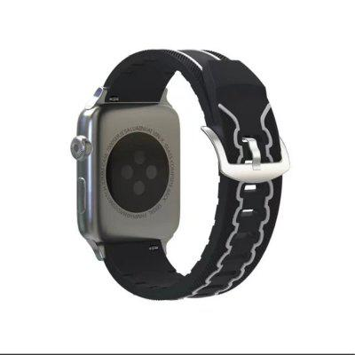 Buy Soft Silicone Sport Strap Replacement Wristband Watch Bands for 38mm iWatch Series 3 / 2 / 1, BLACK WHITE, Consumer Electronics, Smart Watch Accessories for $7.06 in GearBest store