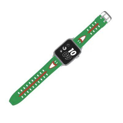 42mm Smiling Face Silicone Bracelet Strap Watch Band for iWatch Series 3 / 2 / 1