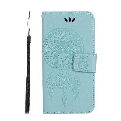 Funda de Cartera de Cuero PU con Patrón de Búho en Relieve para iPhone 7