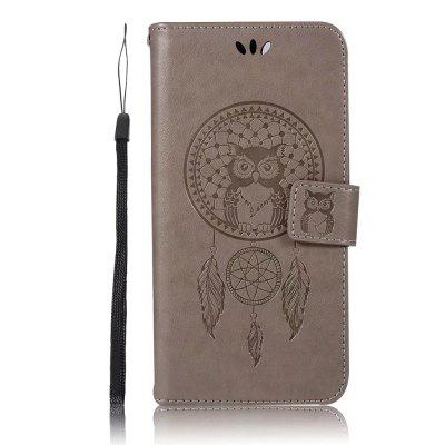 Owl Embossed Pattern PU Leather Wallet Case for Xiaomi 5X