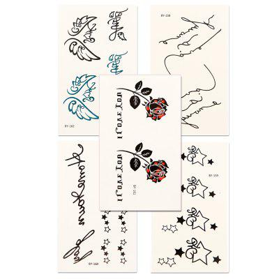 5pcs Women's Red lip Tattoo Sticker Set Waterproof Cute Cartoon All Match AccessoryYMBY158-162