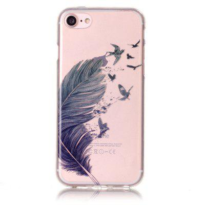 Blue Feather Soft Silicone Case Cover for iPhone 7 / 8