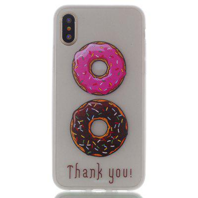 Donuts Luminous Ultra Thin Slim Soft TPU Silicone Case for iPhone X