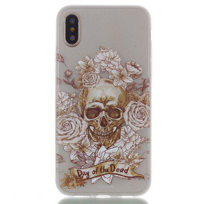 Skeleton Rose Luminous Ultra Thin Slim Soft TPU Silicone Case for iPhone X