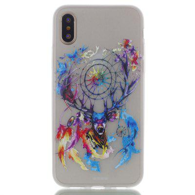 Deer Head Luminous Ultra Thin Slim Soft TPU Silicone Case for iPhone X