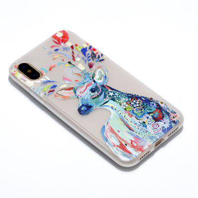 Watercolor Deer Luminous Ultra Thin Slim Soft TPU Silicone Case for iPhone X