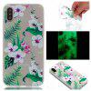 Cherry Blossom Luminous Ultra Thin Slim Soft TPU Silicone Case for iPhone X - WHITE