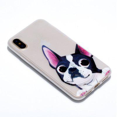 Dog Luminous Ultra Thin Slim Soft TPU Silicone Case for iPhone X