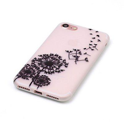 Black Dandelion Luminous Ultra Thin Slim Soft TPU Silicone Case for iPhone 7 / 8