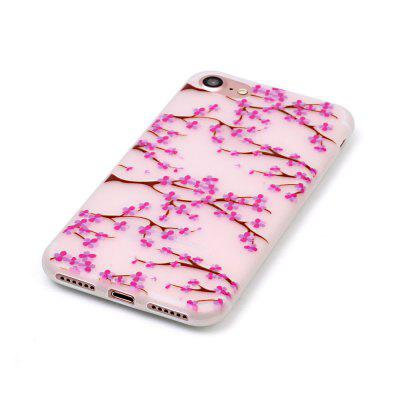 Plum Blossom Luminous Ultra Thin Slim Soft TPU Silicone Case for iPhone 7 / 8