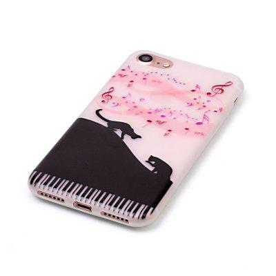 Music Cat Luminous Ultra Thin Slim Soft TPU Silicone Case for iPhone 7 / 8