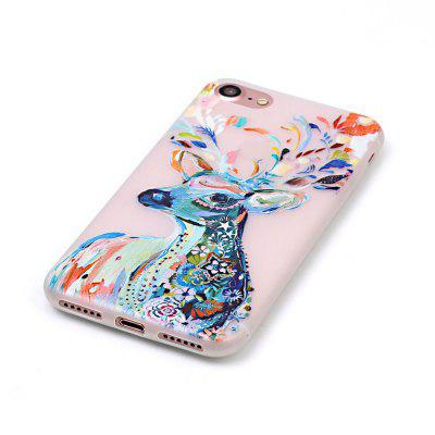 Watercolor Deer Luminous Ultra Thin Slim Soft TPU Silicone Case for iPhone 7 / 8