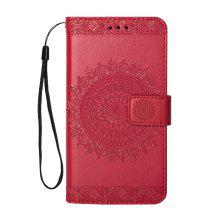 Embossed Wallet Flip PU Leather Card Holder Standing Phone Case for Samsung Galaxy A5 2017 / A520