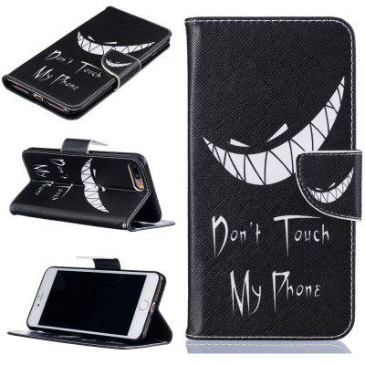 Bad Smile Pattern Luxury Style PU Leather Mobile Phone Case Flip Cover for iPhone 7 Plus / 8 Plus