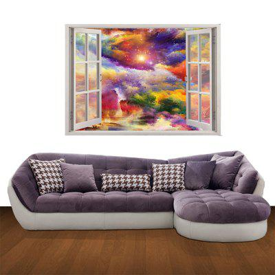 Creative 3D Colorful Stars Background Wall Sticker