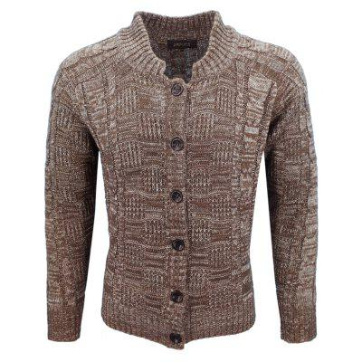 Men'S Autumn and Winter Primer Cardigan Jacquard  Casual Fashion Long-Sleeved Pullover