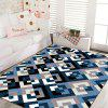 Bedside Rug Classic Plaids Pattern Comfortable Soft Thick Floor Mat - COLORMIX