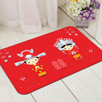 Bedroom Floor Mat Wedding Style Red Bride Bridegroom Home Decor DoormatCarpets &amp; Rugs<br>Bedroom Floor Mat Wedding Style Red Bride Bridegroom Home Decor Doormat<br><br>Material: Chinlon, PP (Polypropylene)<br>Package Contents: 1X carpet<br>Package size (L x W x H): 40.00 x 45.00 x 13.00 cm / 15.75 x 17.72 x 5.12 inches<br>Package weight: 2.8000 kg<br>Product size (L x W x H): 140.00 x 200.00 x 2.00 cm / 55.12 x 78.74 x 0.79 inches<br>Shape: Rectangle<br>Suitable Place: Living Room,Kitchen Room,Bathroom,Bedroom,Dining Room,Office,Kids Room<br>Type: Retro, Ethnic, Archaistic