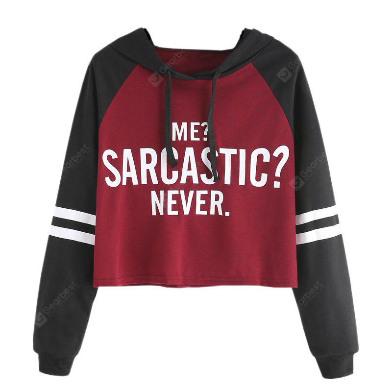 WINE RED XL Large Size Long Sleeve Hoodie