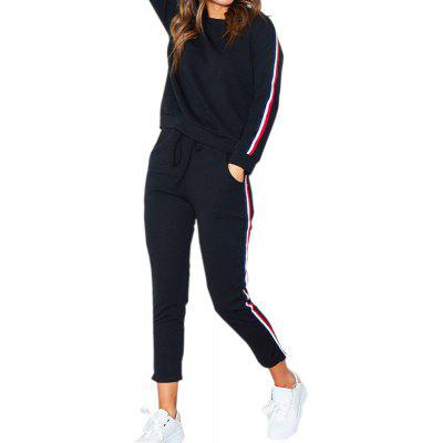 Buy BLACK S Long Sleeve Sports Suit for $23.01 in GearBest store