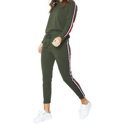 Buy ARMYGREEN L Long Sleeve Sports Suit for $23.01 in GearBest store