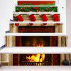 Christmas Green Leaves Red Sock Gifts Stairs Stickers PVC Full Color Stove Fire Stairway Decals - MIX COLOR