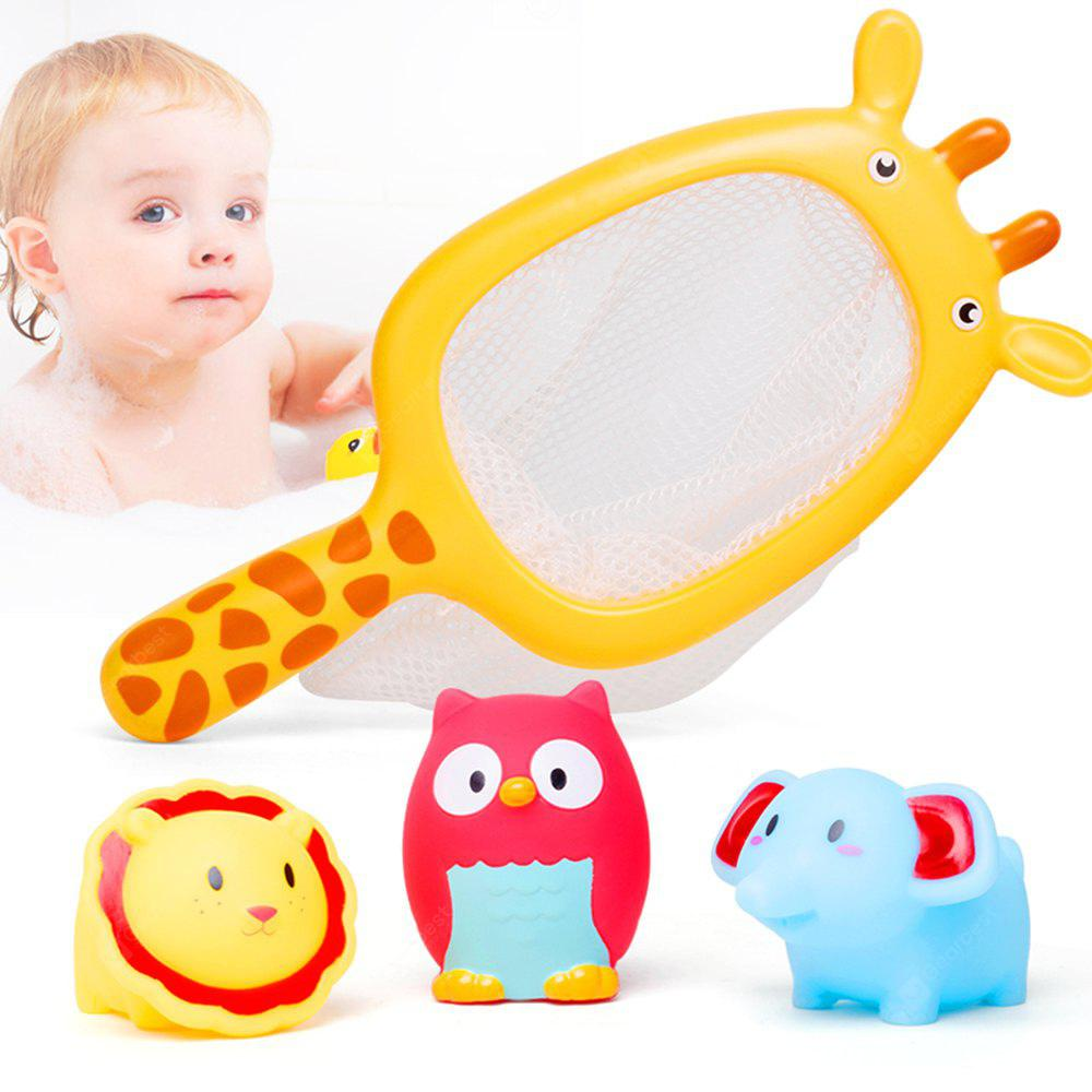 Play Water Baby Bath Toys Rubber Duck Bathroom Toys Floating Fish ...