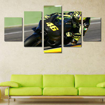 Modern Frameless Canvas Prints Room Wallart Decoration 5pcs