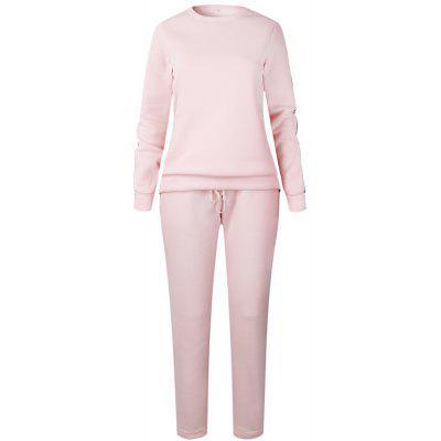 Buy PINK L 2017 New Autumn Winter Splicing and Weaving Suit for $30.74 in GearBest store