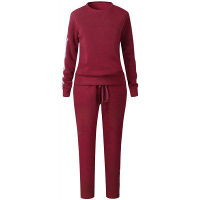 Buy WINE RED XL 2017 New Autumn Winter Splicing and Weaving Suit for $30.74 in GearBest store